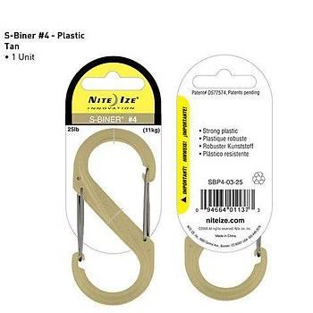 Nite-ize S-Biner Plastik Size 4 Tan
