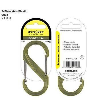 Nite-ize S-Biner Plasrik Size 4 Green