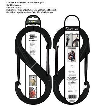 Nite-ize S-Binner Plastik Size 10 Blk/Blk Gate