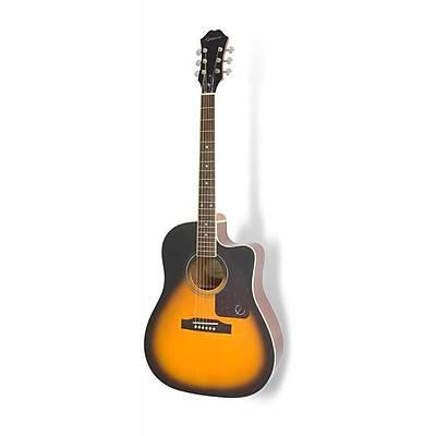 Epiphone AJ-220SCE Solid Top Elektro Akustik Gitar (Vintage Sunburst)