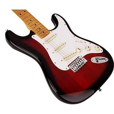 SX Stratocaster Elektro Gitar (2-Tone Sunburst) / KILIF