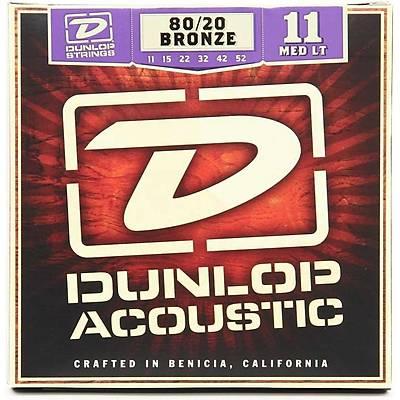 Jim Dunlop Medium-Light 80/20 Bronze Akustik Gitar Teli (11-52)