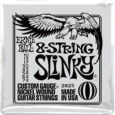 Ernie Ball P02625 Slinky Electric Nickel Wound 8 Telli 0.10 - 0.74 Elektro Gitar Teli