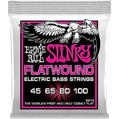 Ernie Ball P02814 Flatwound Super Slinky 45-100 Bas Gitar Teli