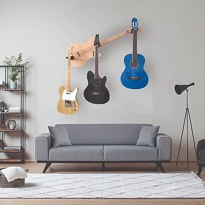 Akademi 3'lü Gitar Duvar Standý