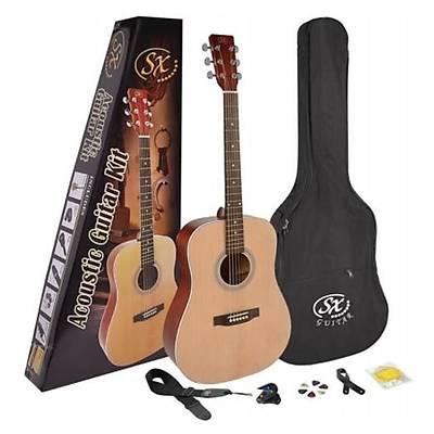 SX SD204K 4/4 Akustik Gitar Paketi (Natural)