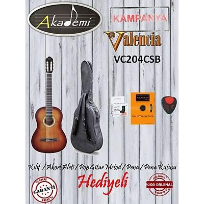 VALENCIA VC204CSB KLASÝK 4/4 Gitar+KILIF+METOD+AKORT ALETÝ+PENA