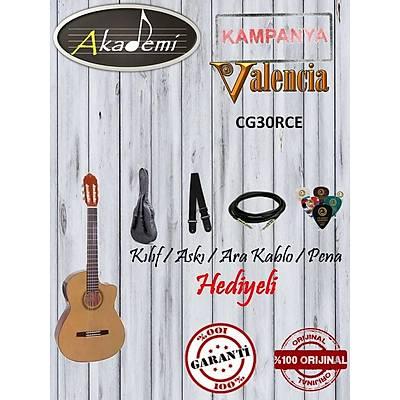 VALENCIA CG30RCE ELEKTRO KLASÝK Gitar / Hediyeli