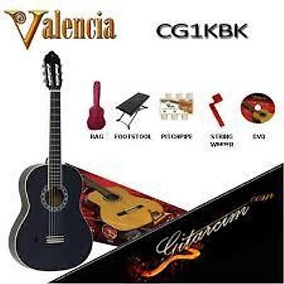Valencia CG1KBK Tam Boy Klasik Gitar Seti / HEDÝYELÝ