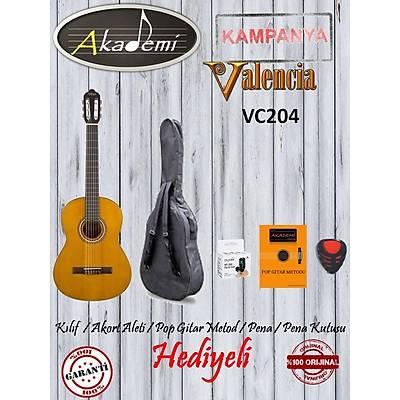 VALENCIA VC204 KLASÝK 4/4 Gitar /KILIF+METOD+AKORT ALETÝ+PENA