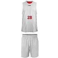 Liggo Kings Çift Taraflý Basketbol Forma Kýrmýzý-Beyaz