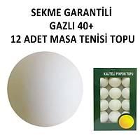 Masa Tenisi Topu Select 40+ Pinpon Topu 3 Yýldýz 12 Adet