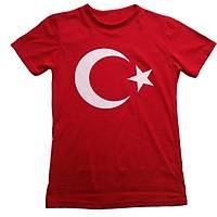 Türkiye Ay Yýldýz Baskýlý Çocuk Tiþört