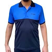 Liggo Antrenman T-Shirt Polo Mavi