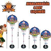 Çocuk Basketbol Potasý Ayaklý Ayarlanabilir Pota Seti Max. 150cm