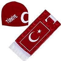 Türkiye Atký Bere Seti Türk Bayraklý Atký Bere