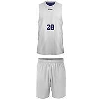Liggo Kings Çift Taraflý Basketbol Forma Lacivert-Beyaz