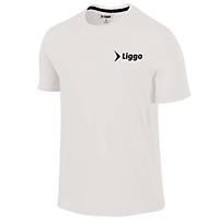 Liggo Nefes Alabilen Erkek Spor Tiþört Fitness Antrenman Tiþörtü Beyaz