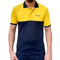 Liggo Antrenman T-Shirt Polo Sarý
