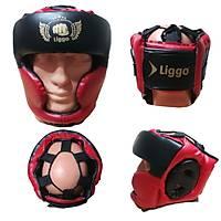 Liggo Gard Boks Kaský Kick Boks Muay Thai Kapalý Kask Kýrmýzý