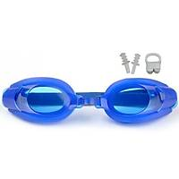Çocuk Yüzücü Gözlüðü LG09 Kulak Burun Týkaç Hediyeli Mavi