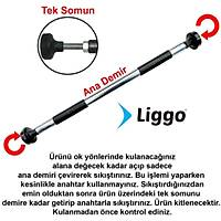 Liggo Koridor Barfiksi Kapý Barfiksi 75-95 cm Ayarlanabilir Barfiks Demiri