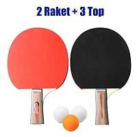 Masa Tenisi Raketi Seti 2 Raket 3 Top Seti Amatör Kullaným