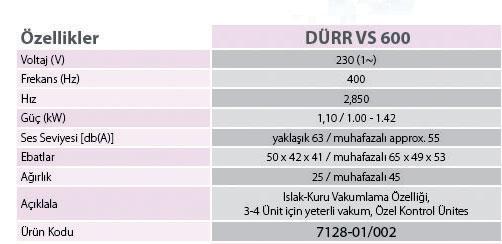 aspiratör özellikleri
