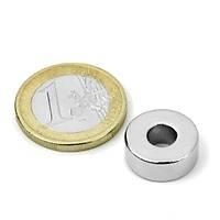 Çap 15mm X Del.Çapý 5,5mm X Kalýnlýk 5mm Düz Delikli Neodyum Mýknatýs