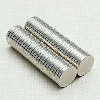 Çap 12mm X Kalýnlýk 2mm Yuvarlak Neodyum Mýknatýs
