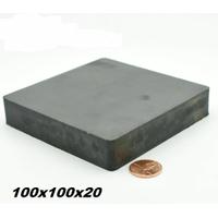 100x100x20 Büyük Güçlü Ferrit Kömür Seramik Magnet Mýknatýs