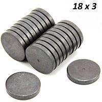 Ferrit Mýknatýs Çap 18mm X Kalýnlýk 3mm - Süsleme Magneti