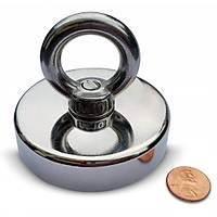Süper Güçlü Halkalý Büyük Neodyum Pot Mýknatýs - 60mm Çap - Magnet Fishing - Kurtarma Mýknatýsý