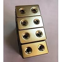 Boy 40mm X En: 20mm X Delik çap 11/5,2 X Kalýnlýk 5 mm Neodyum Mýkýnatýs Magnet (havþadelik)