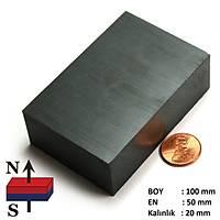 100x50x20 Büyük Güçlü Ferrit Kömür Seramik Magnet Mýknatýs
