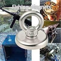 Süper Güçlü Halkalý Neodyum Pot Mýknatýs - 25mm Çap - Magnet Fishing - Kurtarma Mýknatýsý