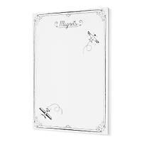 Mýknatýslý Pano , Beyaz Dekoratif Metal Magnet Panosu 70x50 cm