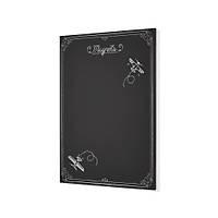 Mýknatýslý Pano , Siyah Dekoratif Metal Magnet Panosu 70x50 cm