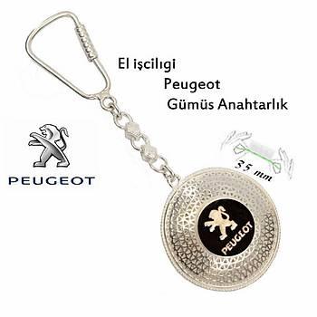 925 Ayar Gümüþ Telkari El Ýþçiliði Peugeot Anahtarlýk