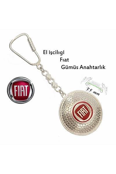 925 Ayar Gümüþ Telkari El Ýþçiliði Fiat Anahtarlýk