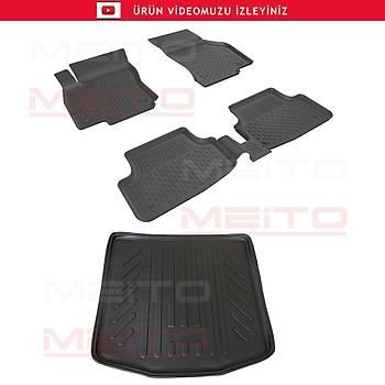Sahler 4,5D Siyah Audi A3 Paspas 3D Bagaj Havuzu 2013-2018 SET