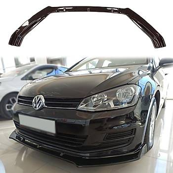 Volkswagen Golf 7 MK7/ 7,5 Ön Tampon 3 Parça Lip 2012-2019 Siyah