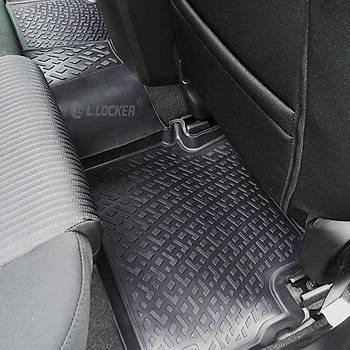 L.Locker Hyundai Santa Fe II2010- 3D Siyah Paspas + Bagaj Havuzu