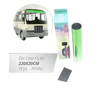 Cam Filmi Ön Güneþlik Filmi 220x20cm Yeþil-Aynalý Krom