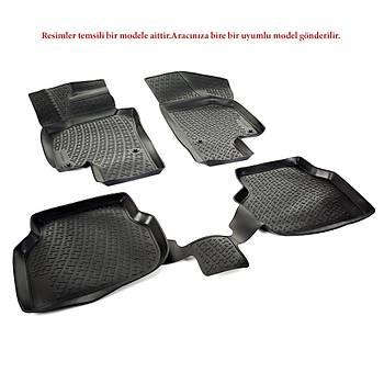L.Locker Dacia Sandero II 2014 Sonrasý 3D Paspas Siyah