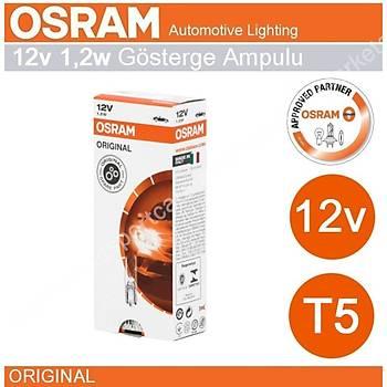 Osram 12V T5 1.2 Watt  Ampul Gösterge Göðüs Ampulü 10 Adet