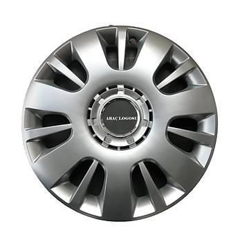 Daewoo Uyumlu  15 inç Jant Kapaðý 4 Adet Esnek Kýrýlmaz Kapak 312