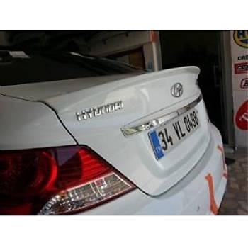 Hyundai Accent Blue Spoiler