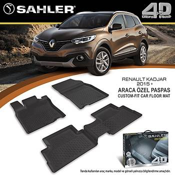 Renault Kadjar 2014- Sonrasý 4.5D Havuzlu Paspas Sahler