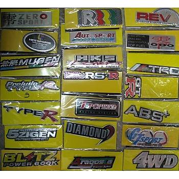 Metal Sticker Çeþitleri